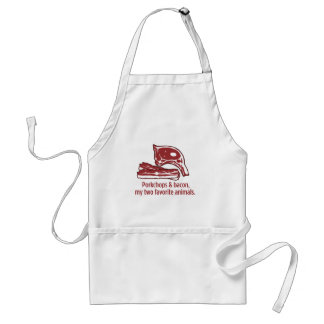 Porkchops & Bacon, my two favorite animals Adult Apron