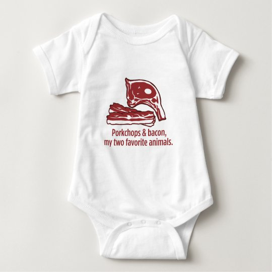 Porkchops & Bacon, my two favorite animals Baby Bodysuit