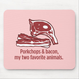 Porkchops & Bacon, my two favorite animals Mouse Pad