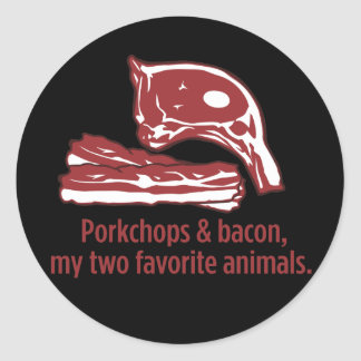 Porkchops & Bacon, my two favorite animals Stickers
