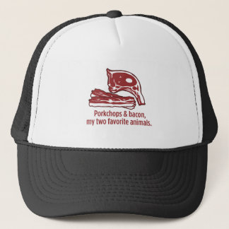 Porkchops & Bacon, my two favorite animals Trucker Hat