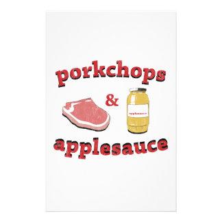 porkchops y compota de manzanas  papeleria de diseño