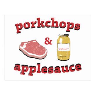 porkchops y compota de manzanas postal
