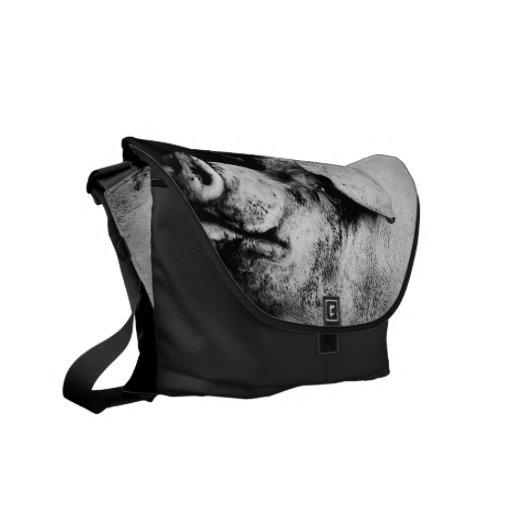 porker portrait courier bag