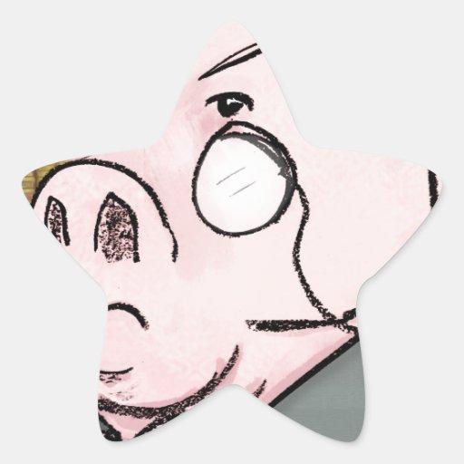 Porkethus Hammington III Pegatina En Forma De Estrella