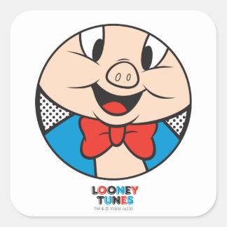 Porky Dotty Icon Square Sticker