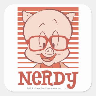Porky - Nerdy Square Sticker