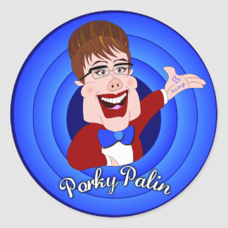 "Porky Palin - 3"" Stickers - 6 Count"