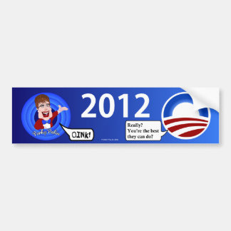Porky Palin Bumper Sticker
