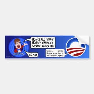 Porky Palin Bumper Sticker