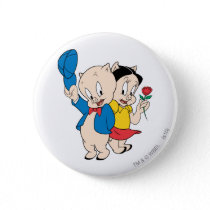 Porky Pig and Petunia Button