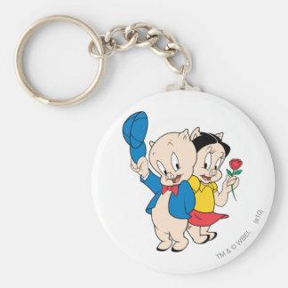 Porky Pig and Petunia Keychain
