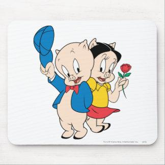 Porky Pig and Petunia Mouse Pad