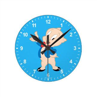 Porky Pig | Classic Pose Round Clock