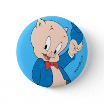 Porky Pig | Waving Hat Button