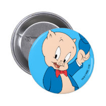 Porky Pig | Waving Hat Button