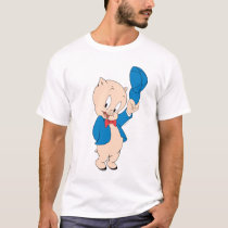 Porky Pig | Waving Hat T-Shirt