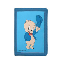 Porky Pig | Waving Hat Trifold Wallet