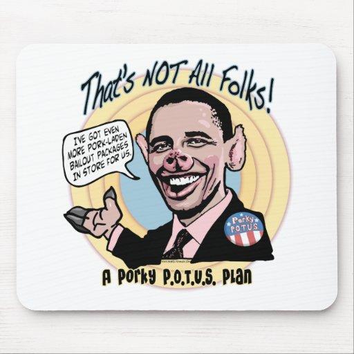 Porky POTUS Anti-Obama Gear Mouse Pad