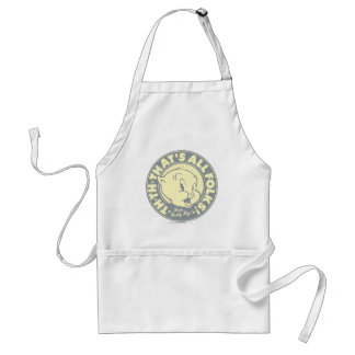 Porky TH-TH-THAT'S ALL FOLKS! Adult Apron