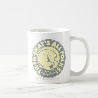 Porky TH-TH-THAT'S ALL FOLKS! Classic White Coffee Mug