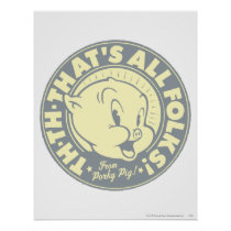 Porky TH-TH-THAT'S ALL FOLKS! Poster