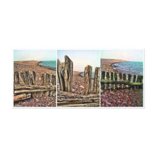 Porlock Triptych Canvas Print