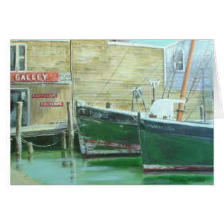 Porpoise and the Sarah Lynn at the Galley, Ptown Card