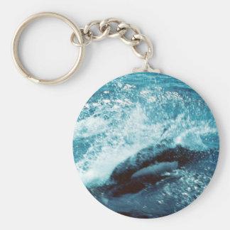 Porpoise Dall Basic Round Button Keychain