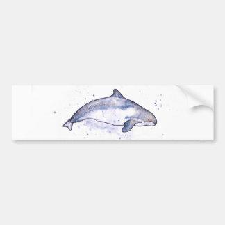 Porpoise Illustration Bumper Sticker