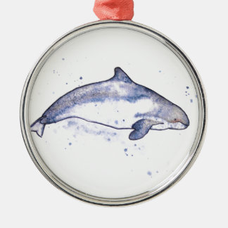 Porpoise Illustration Metal Ornament
