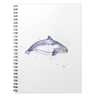 Porpoise Illustration Spiral Notebook