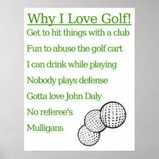 Porqué amo golf poster