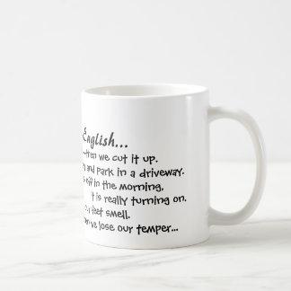 Porqué amo inglés asalte taza de café