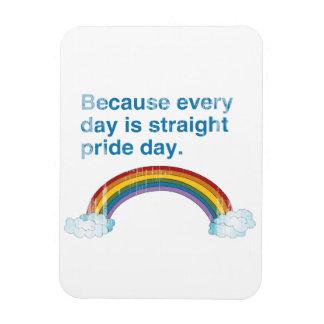 Porque cada día es día recto del orgullo apenado imanes de vinilo