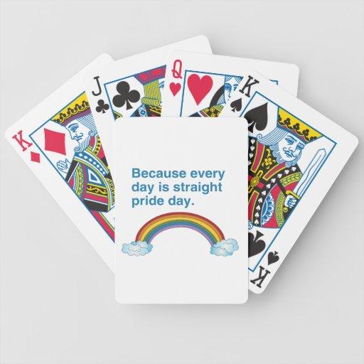 Porque cada día es recto enorgullézcase el día barajas de cartas