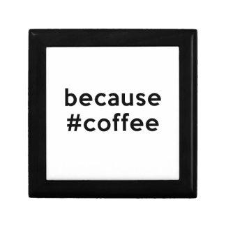 Porque café joyero cuadrado pequeño