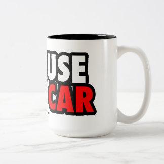Porque coche de carreras taza