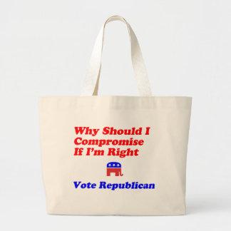Porqué compromiso - republicano bolsa tela grande