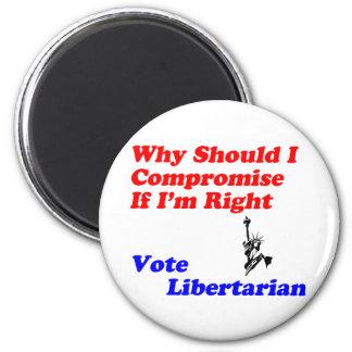 Porqué compromiso - vote al libertario imán redondo 5 cm