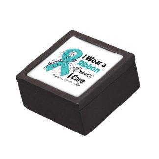 Porque cuido - conciencia del cáncer ovárico cajas de recuerdo de calidad