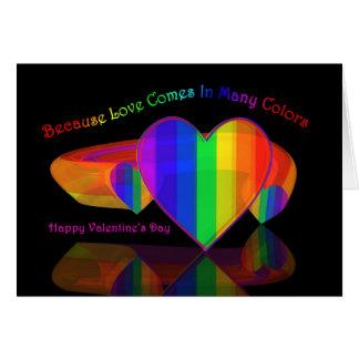 Porque el amor viene en muchos colores tarjeta de felicitación