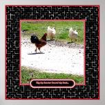 Porqué el gallo cruzó el camino impresiones