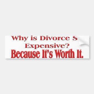 Porqué es el divorcio tan costoso pegatina para auto