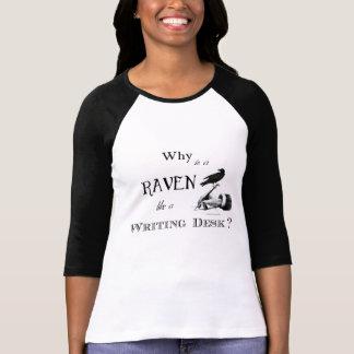"""""""Porqué es un cuervo como un escritorio?"""" Camiseta Poleras"""