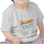Porque. ¡Ése es por qué! Camiseta