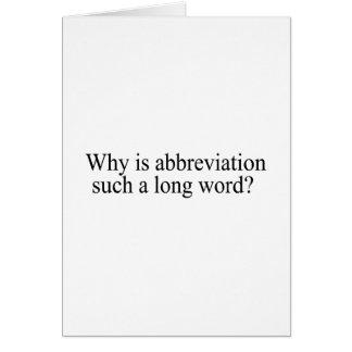 Porqué está la abreviatura tal largo redacte tarjeta de felicitación