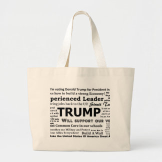 Porqué estoy votando por Donald Trump Bolsa Tela Grande