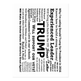 Porqué estoy votando por Donald Trump Tarjetas Postales