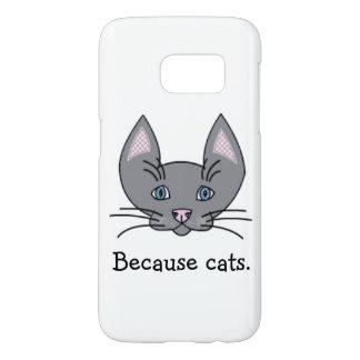 Porque gatos. Caja de la galaxia S7 de Samsung Funda Samsung Galaxy S7